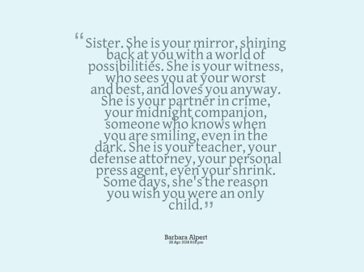 Sister Quote Barbara Alpert